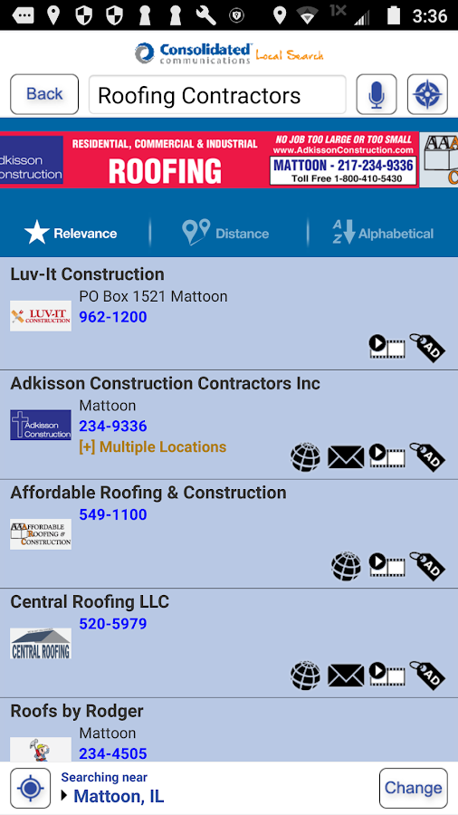Consolidated Local Search- screenshot
