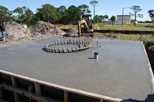 Concrete has been poured at the site of the Antenna Test Bed Array for the Ka-Band Objects Observation and Monitoring, Ka-BOOM system.