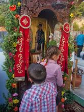 Photo: Проскинитарий с иконата на свети Киприан и Иустина пред вход на храма.