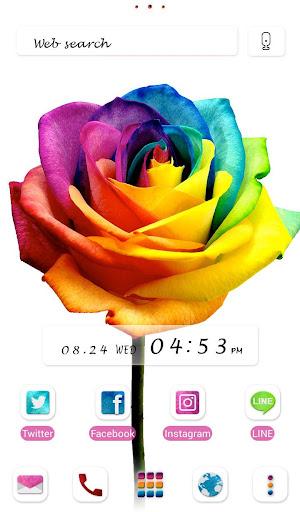 Rainbow Rose +HOME Theme 1.0.0 Windows u7528 1