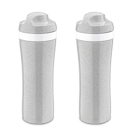 2-pack OASE Vattenflaska 425ml, Organic grå