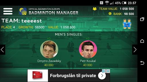 Badminton Manager 1.2.1 screenshots 3