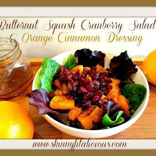 Butternut Squash Cranberry Salad & Orange Cinnamon Dressing.
