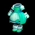 緑のリーフドレス