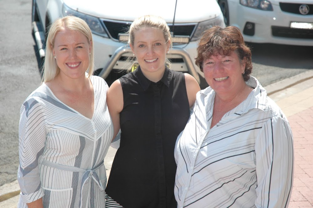 Raise program councillor Anna Dugdale with two mentors from the last time the program was held in Narrabri, Cara Stoltenberg and Trudy Staines.