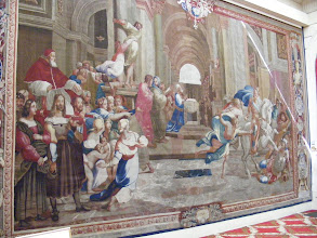 Photo: On the walls are 18th century tapestries woven in the famous Manufacture Nationale des Gobelins, which dates back as a royal factory supplying the court of Louis XIV and later monarchs. It is still in operation in Paris' 13th arrondissement, under the auspices of the French Ministry of Culture.