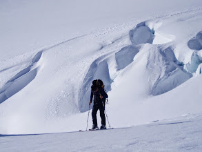 Photo: back country ski touring in NZ