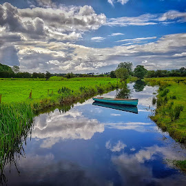 The beauty of Ireland by Carole Sims - Landscapes Waterscapes ( cloud, reflections, river, water, boat, landscape, ireland )