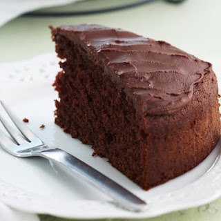 Light Chocolate Cake with Mocha Icing