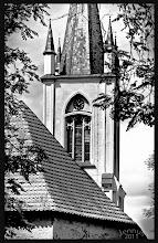Photo: mittelalterliche Dorfkirche Prillwitz bei Neubrandenburg (neugotischer Turm aus dem 19.Jh.)