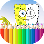 Coloring books for kids spongbobe APK icon