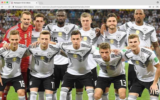 German UEFA Nations League Football Wallpaper