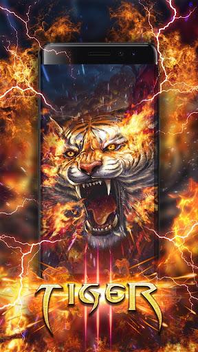 Flame Tiger Live Wallpaper  screenshots 2