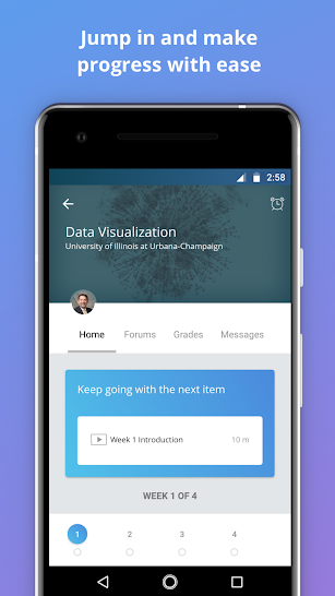 Coursera: Online courses screenshot for Android