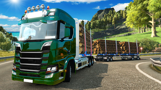 Code Triche Heavy Logging Cargo Truck Transport Simulator APK MOD screenshots 1