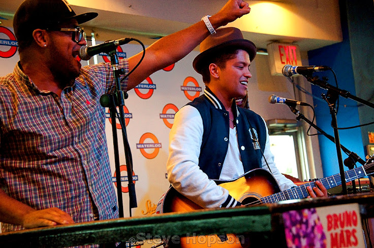 Bruno Mars performing at Waterloo.