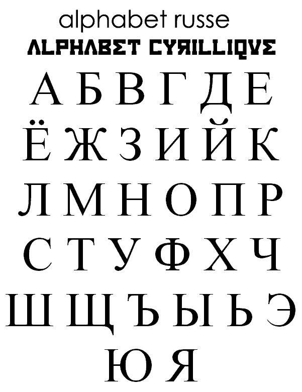 caractre cyrillique