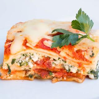 Spinach & Mushroom Veggie Lasagna