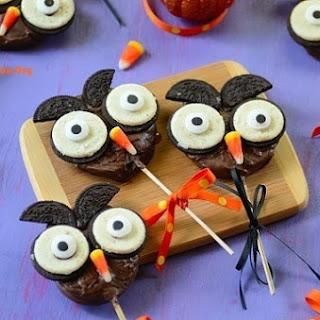 Cute Chocolate-Apple Halloween Owl