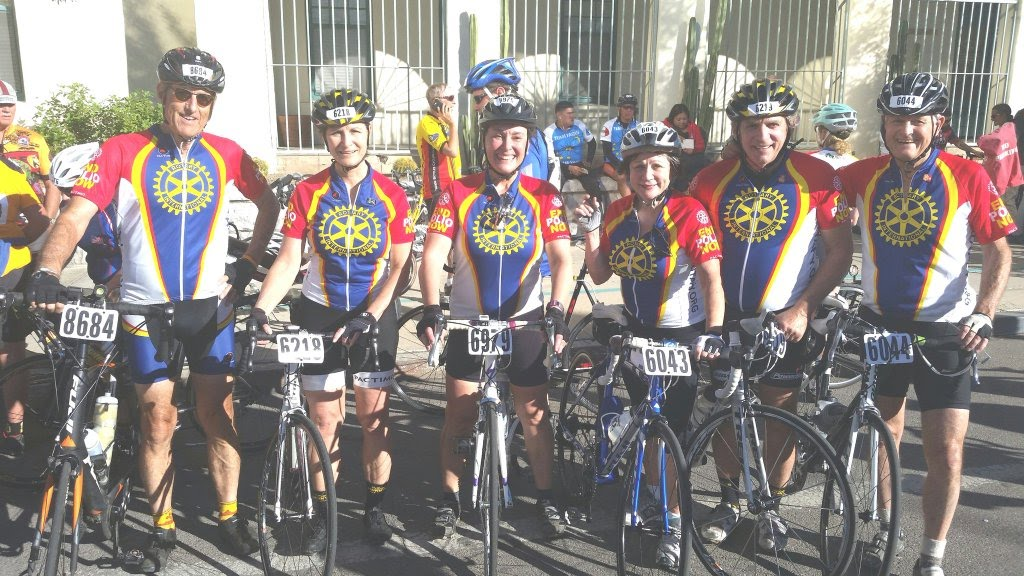 Photo: A groop of Rotary Riders at the departure in Arizona - Ready to End POLIO NOW