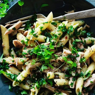 Penne Pasta With Preserved Chilli Tuna.