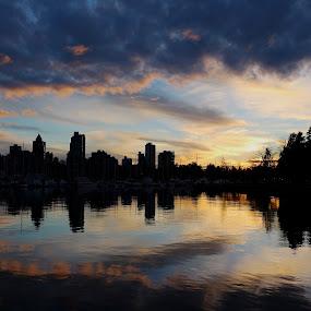 Vancouver sunset by Barbara Suggs - Uncategorized All Uncategorized