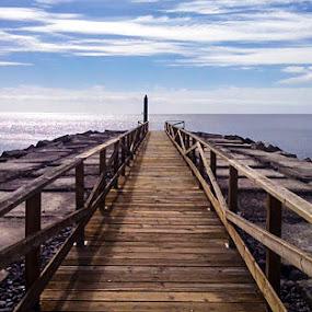 Walkway La Gomera by Peter Louer - Landscapes Waterscapes ( canary islands, walkway, seascape, landscape, la gomera )