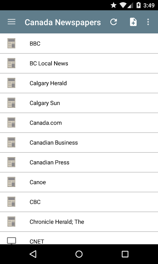 Canada Newspapers - screenshot