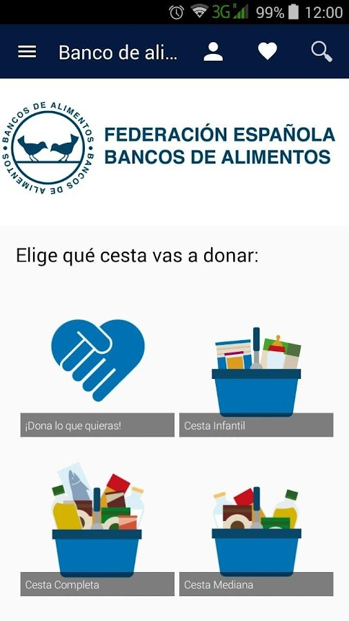 Banco de alimentos (FESBAL)- screenshot