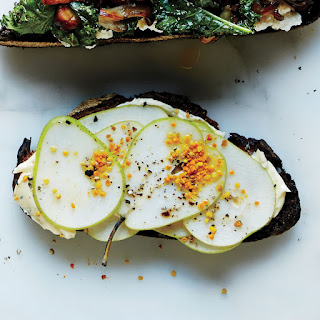 Peppered Butter and Pear Toast
