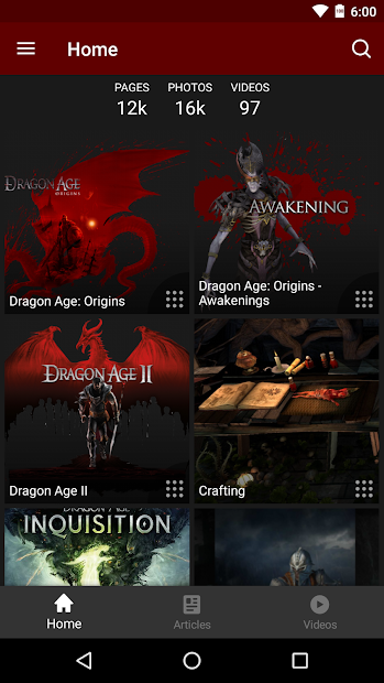FANDOM for: Dragon Age Android App Screenshot