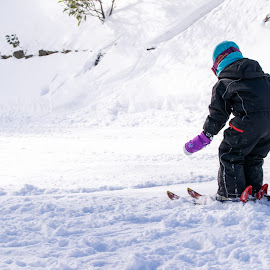 Kid Ski by Loh Jiann - Babies & Children Children Candids ( ski, mountain, falls creek, sports, snow, melbourne, child )