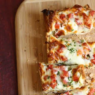 Pesto and Tomato French Bread Pizza.