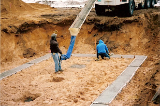 Photo: Pouring the footings