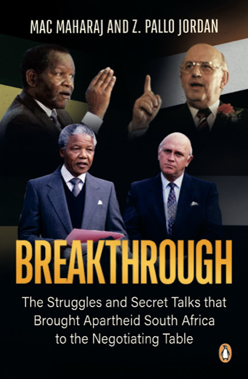 The cover of the Breakthrough book by Mac Maharaj and Pallo Jordan.