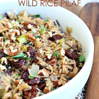 Cherry Pecan Wild Rice Pilaf.