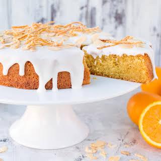 Orange Drizzle Cake with Candied Orange Peel.