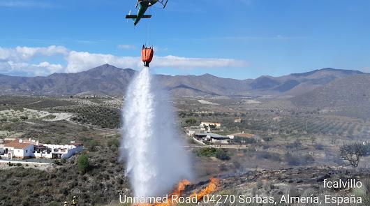 El Infoca trabaja en un incendio forestal declarado en Sorbas