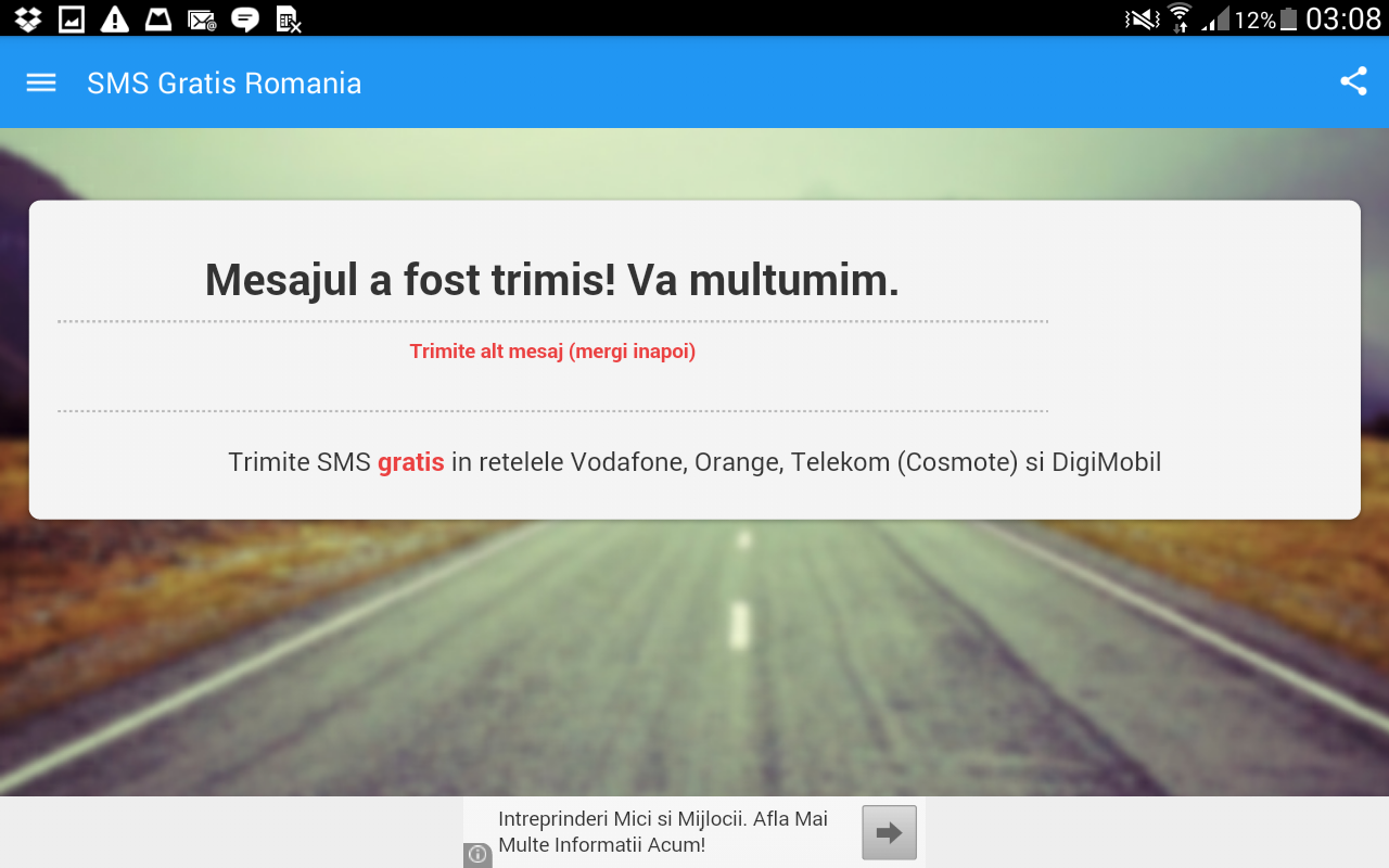 Romania Free Text Message Android Apps