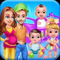 Mommy Daddy & Newborn Triplets Grown Up Nursery icon
