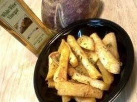 "Roasted Seasoned Rutabaga Fries ""Keto fries"""