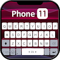 Black Phone 11 Keyboard Theme icon