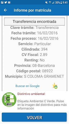 Infovehículo - Consultar matrícula 6.9 androidtablet.us 2