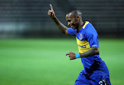 Surprise Ralani of Cape Town City celebrates goal during the 2018 CAF Confederation Cup, Preliminary Round, 2nd Leg between Cape Town City FC and Young Buffaloes at Athlone Stadium, 20 February 2018