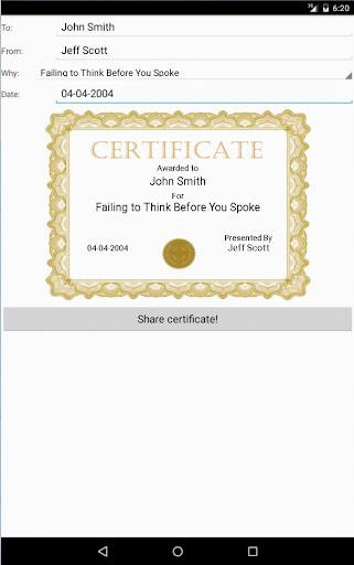 Sarcastic Certificate Maker