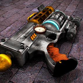 Steampunk Gun by Konix Bam - Digital Art Things ( grunge, nerf, shot, revolver, gun )