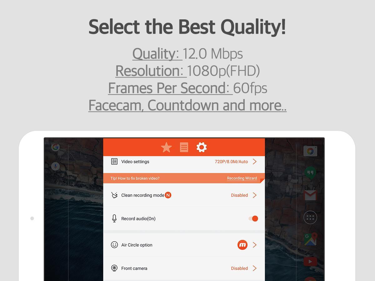 Screenshots of Mobizen Screen Recorder for iPhone