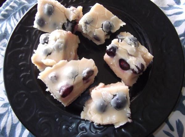 White Chocolate Blueberry Fudge Recipe
