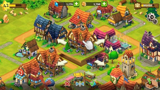 Town Village : ferme, commerce, farm, build, city Capture d'écran