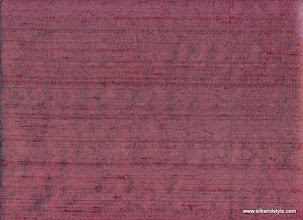 Photo: 100% Handloom Dupioni Silk - H/L Claret